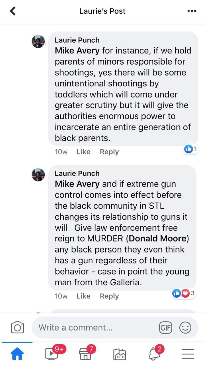 Laurie Punch social media post