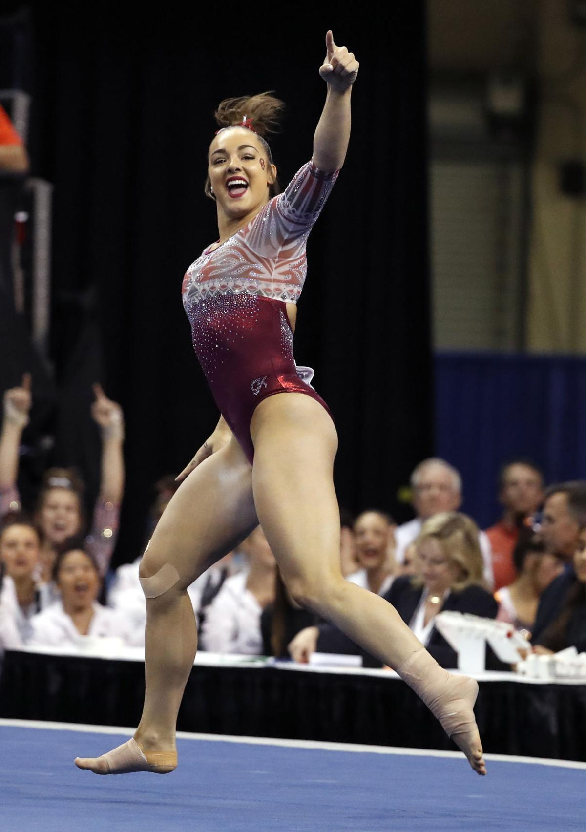 Scenes From The Ncaa Gymnastics Championships Sports