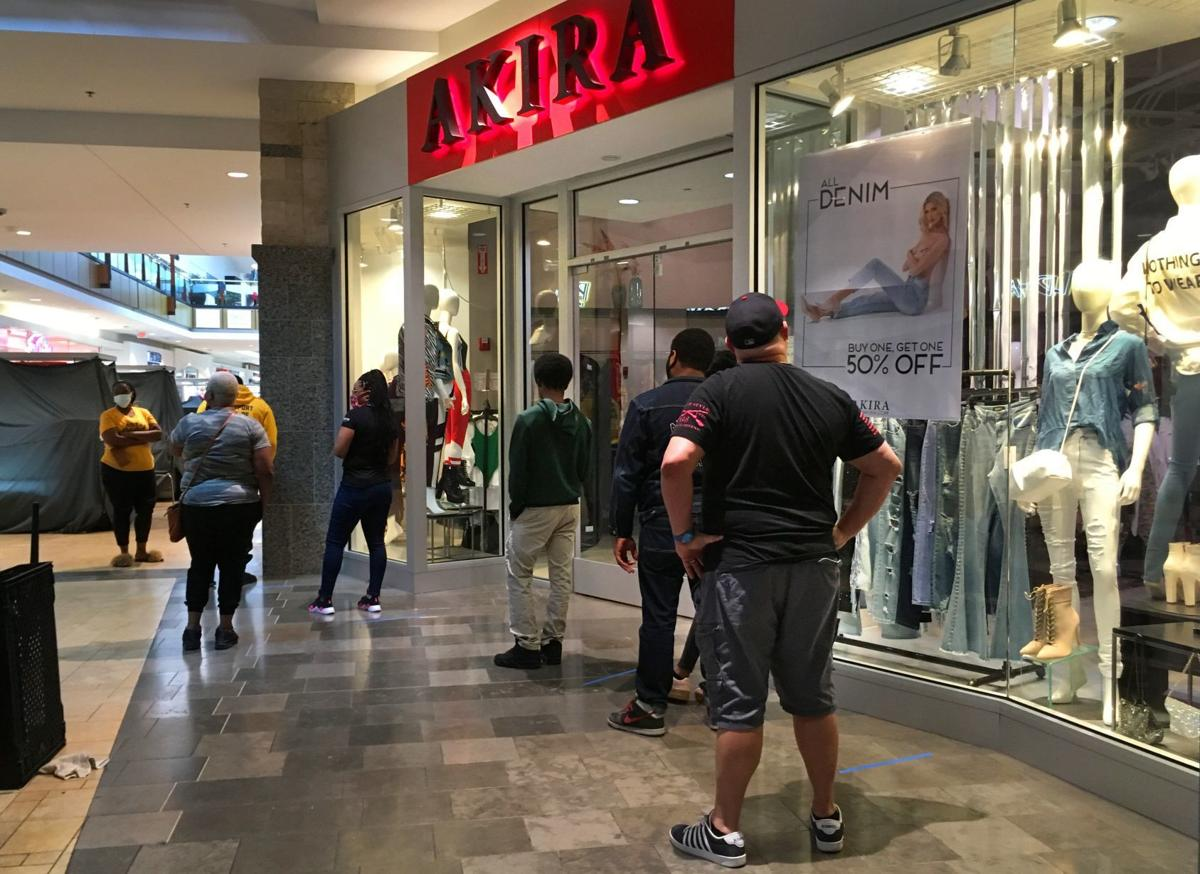 Shoppers return to the malls