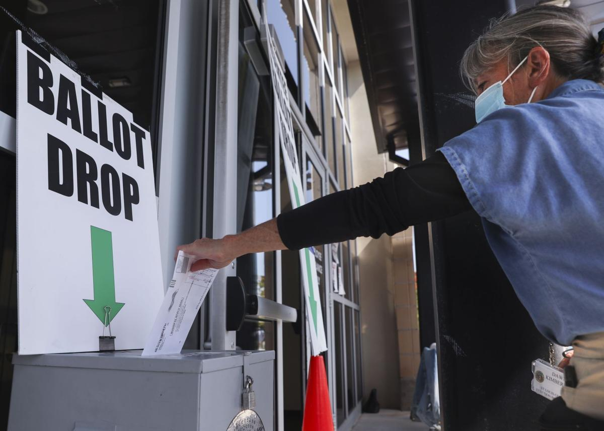 St. Louis County voters drop off ballots