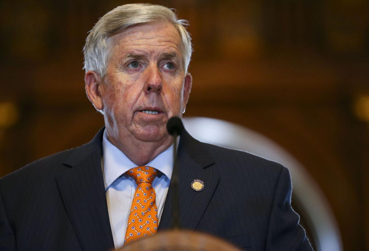 Gov. Mike Parson talks about the coronavirus and special session