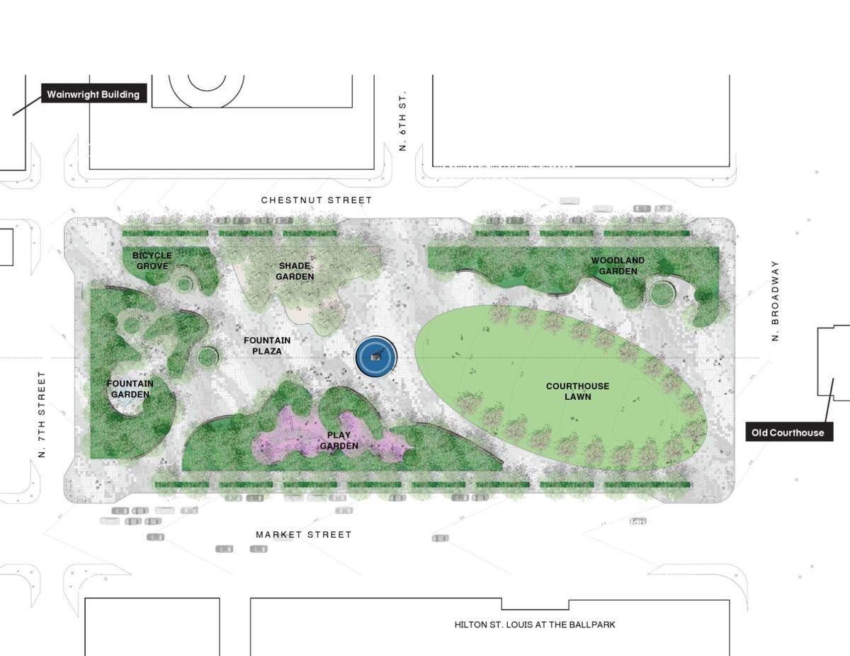 Kiener Plaza site plan