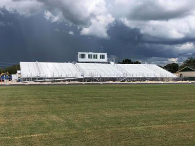Construction continues on bleachers at Gulf High