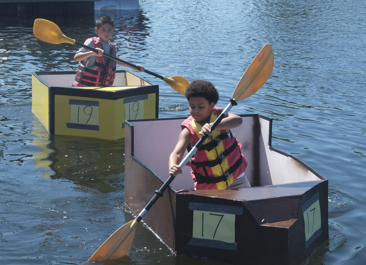 Crowds cheer on captains at Hernando Beach cardboard boat races