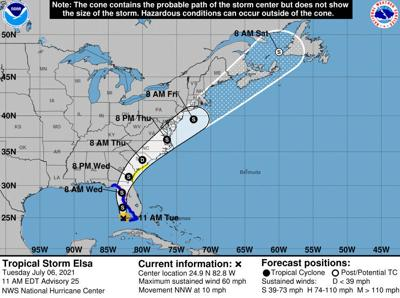 Hurricane watch in effect for parts of west coast of Florida