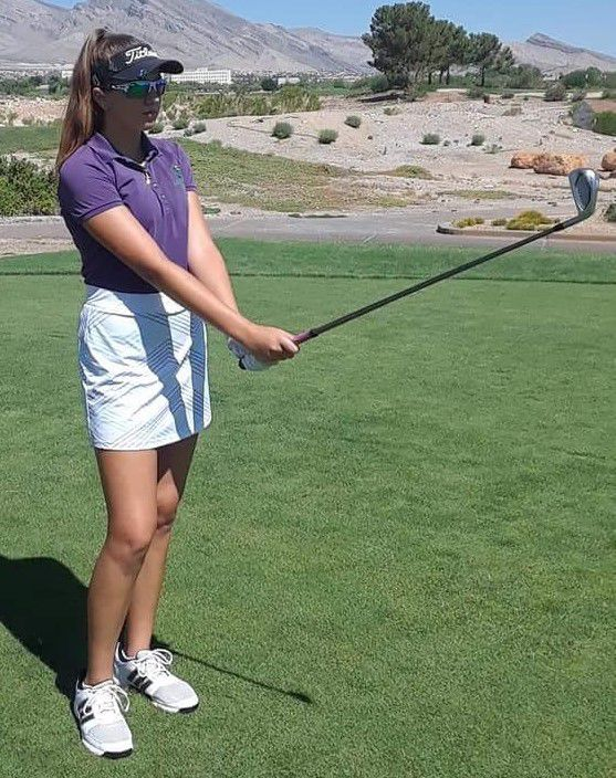 Nicole Felce, 14, competes in first pro golf event
