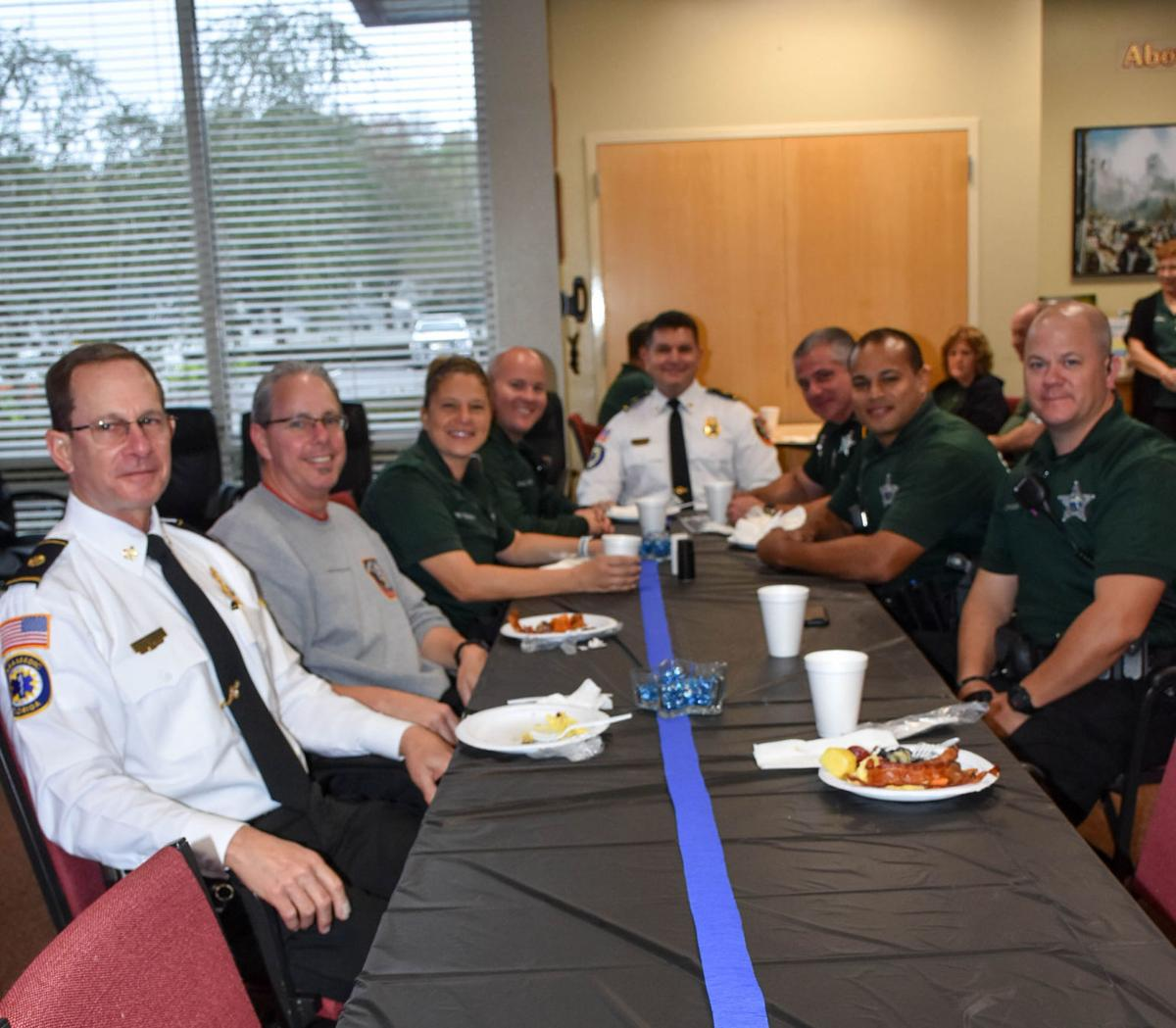 East Lake Fire Rescue holds breakfast for law officers