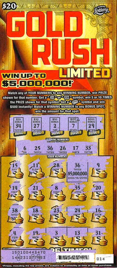 Local woman wins $5 million in Florida Lottery