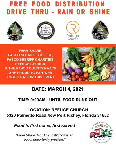 Pasco Sheriff's Office food distribution in NPR