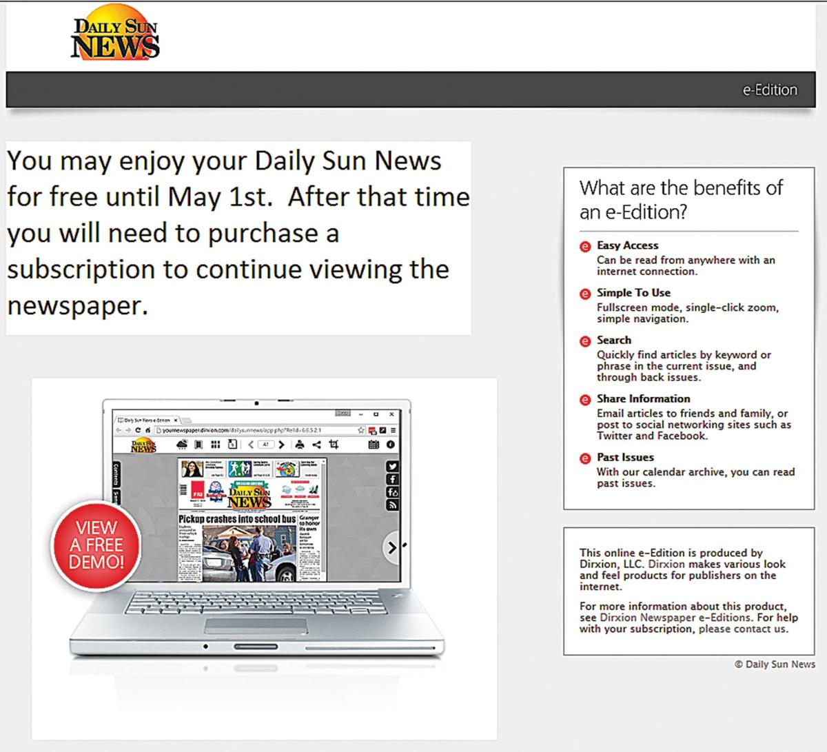 Daily Sun Online goes live today | News | sunnysidesun com