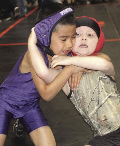 Tiny wrestlers compete at Jason Crawford