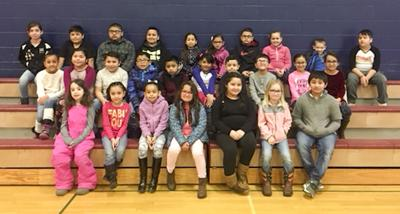 Pioneer Elementary School January Students of the Month