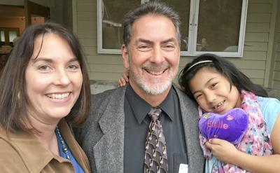 Pastor Souza at home at new church