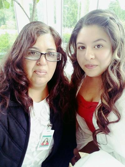 Marlene Bustamante and Clara Vasquez