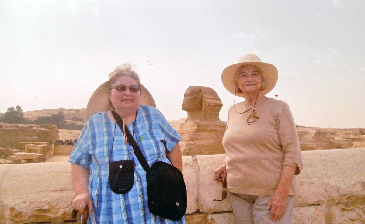Two ladies in Cairo