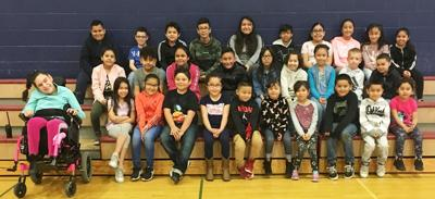 Pioneer Elementary School students of the month