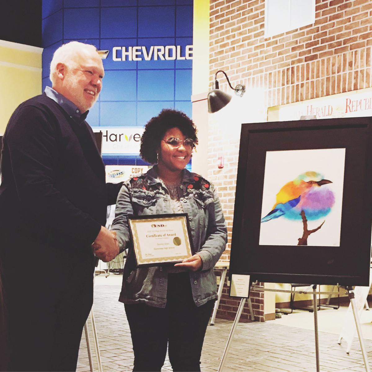 Students share art with the world
