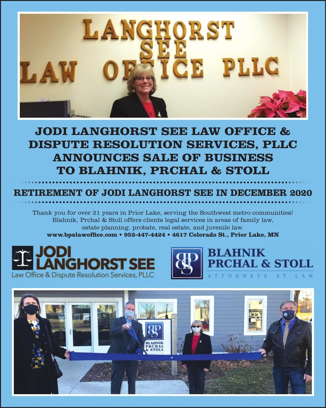 Jodi Langhorst see Law office & dispute