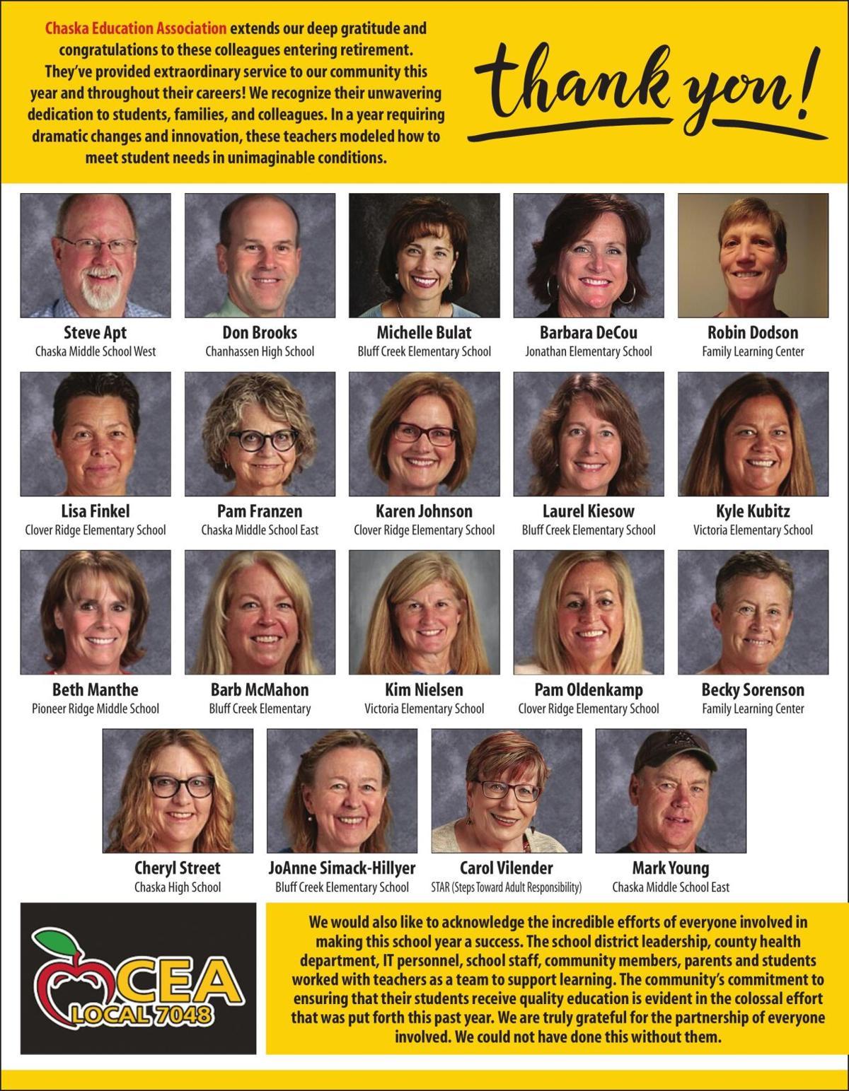 Chaska Education Association extends