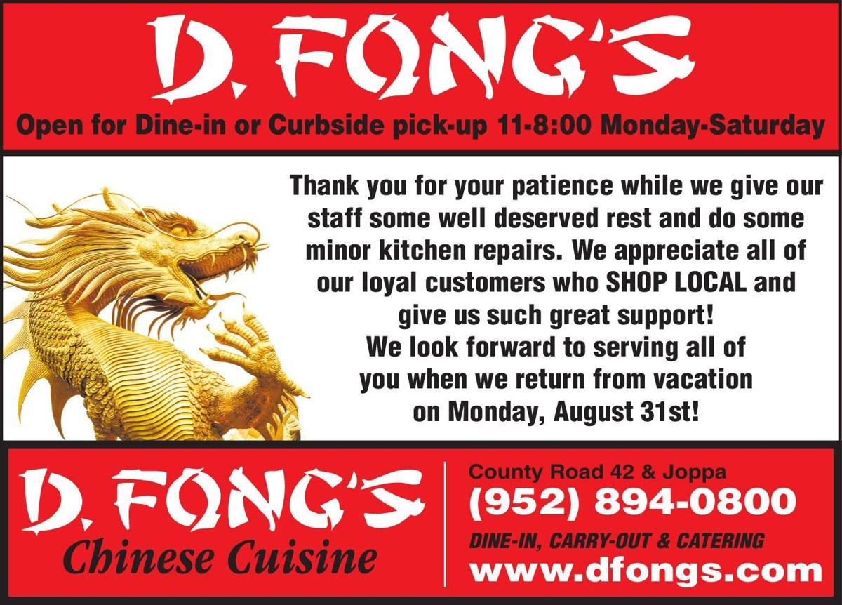 Open for Dine-in or Curbside pick-up