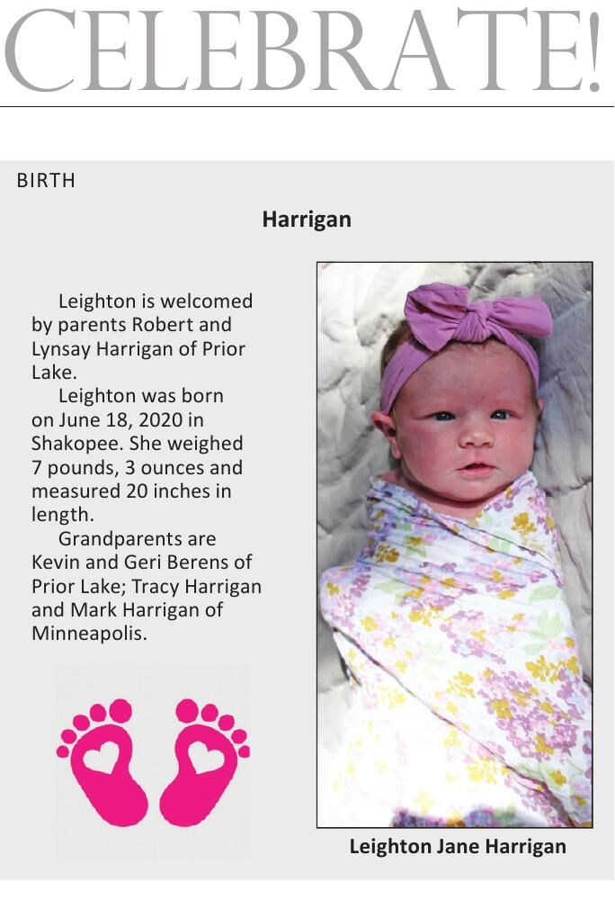 Celebrate! BIRTH Harrigan Leighton is