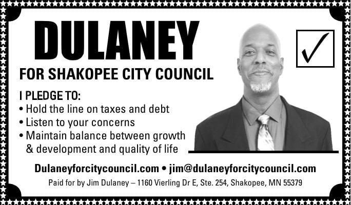 DULANEY FOR SHAKOPEE CITY COUNCIL ✓ I