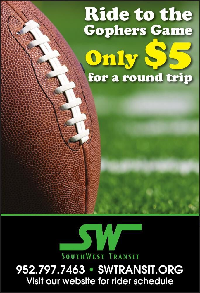 Ride to the Gophers Game Only $5 for a