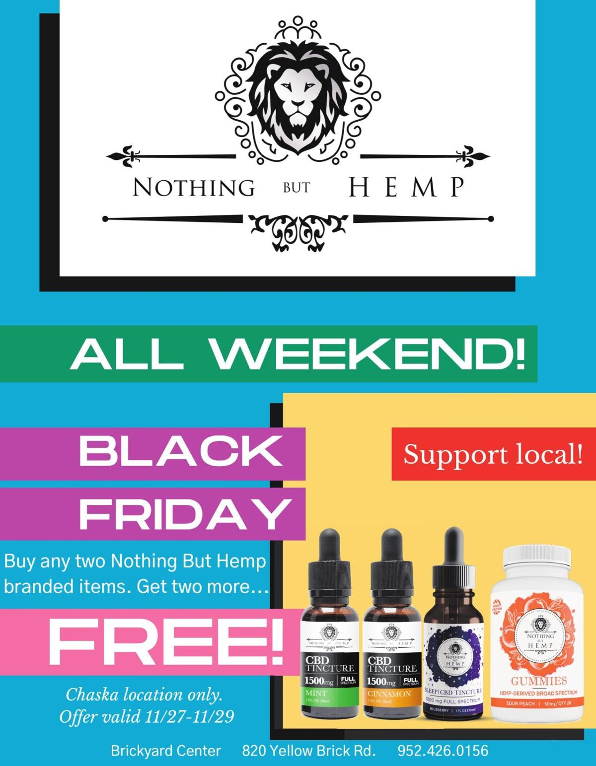 ALL WEEKEND! BLACK FRIDAY Support
