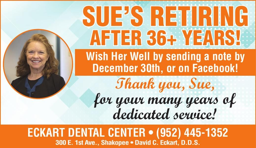 SUE'S REtiRing AftER 36+ YEARS! Wish