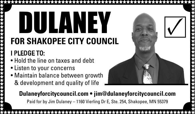 DULANEY FOR SHAKOPEE CITY COUNCIL ✓ I
