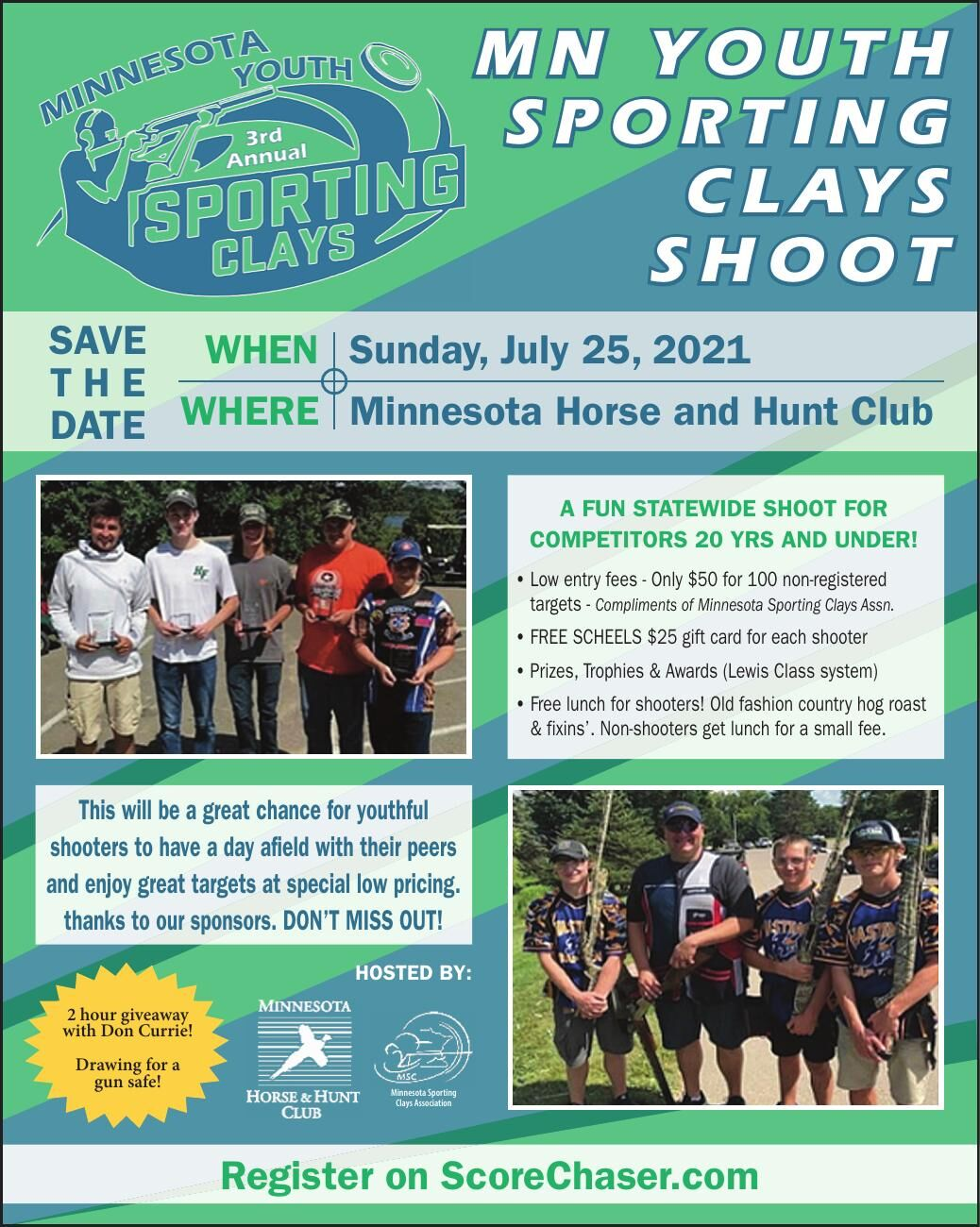 MN YOUTH SPORTING CLAYS SHOOT save wHen
