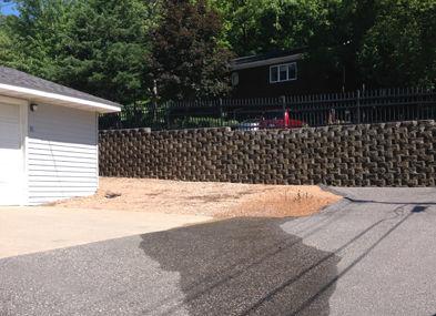 Water leaking at retaining wall