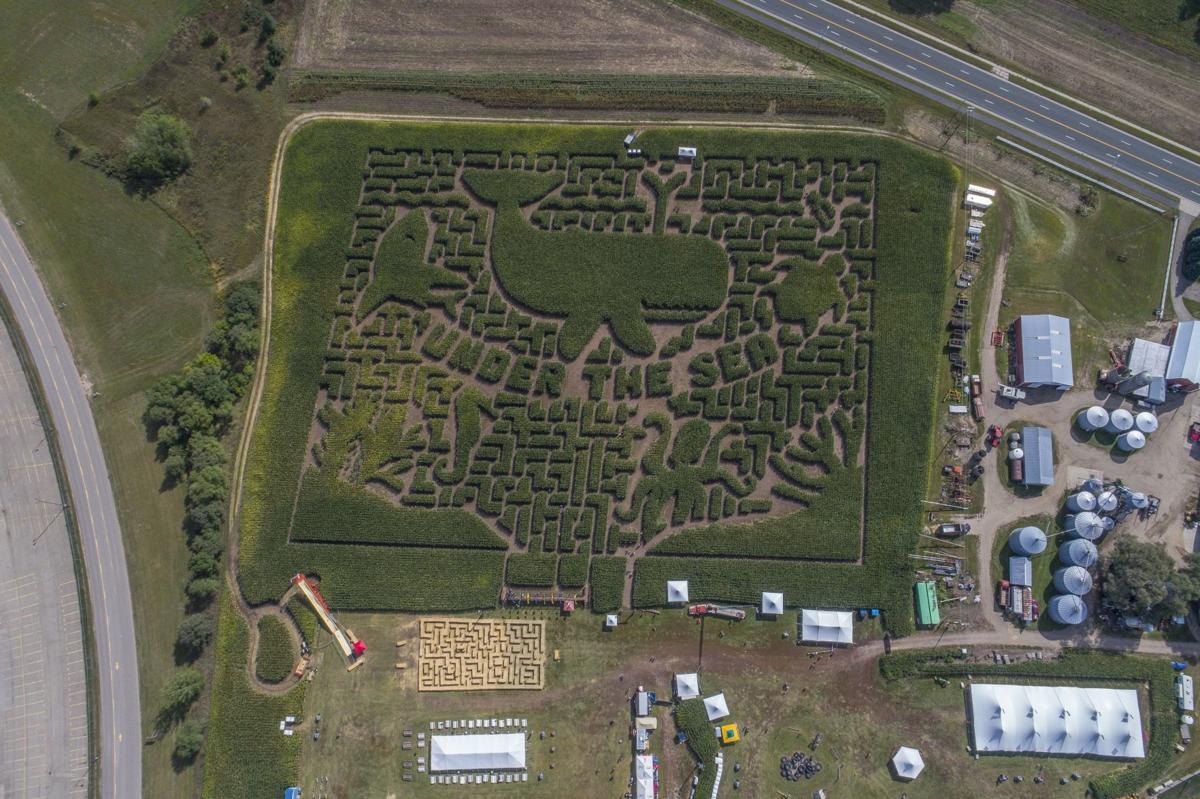 Sever's Fall Festival - aerial drone shot
