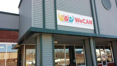 WeCAN's new logo on its building (copy)