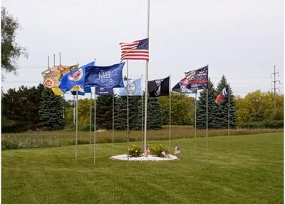 Flags at Chaska cemetery