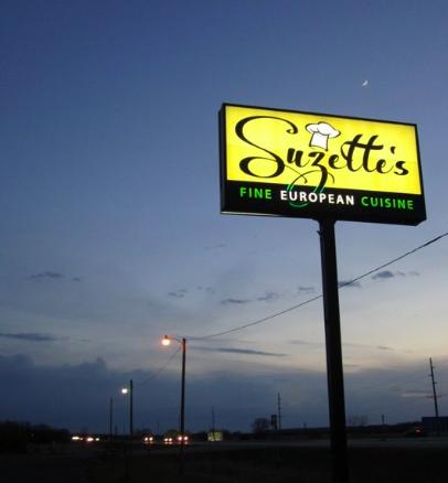 Suzette's Restaurant - signage