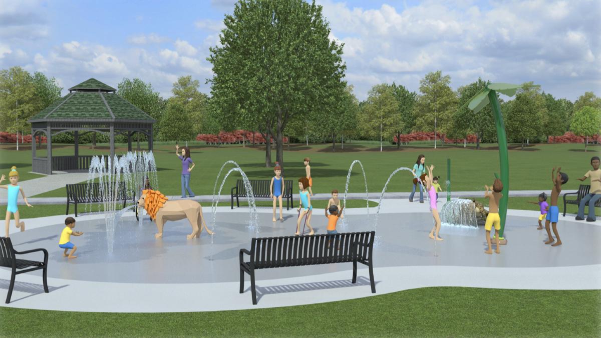 Renderings of the proposed Aquatix splash pad
