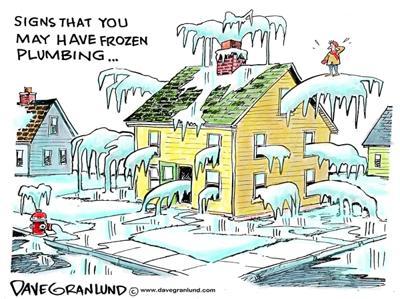 cartoon frozen plumbing news