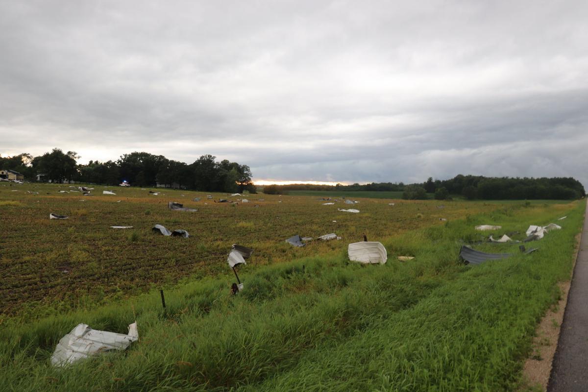 Tornado damages farm near Belle Plaine, see storm photos
