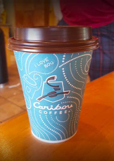 Caribou Coffee - coffee cup