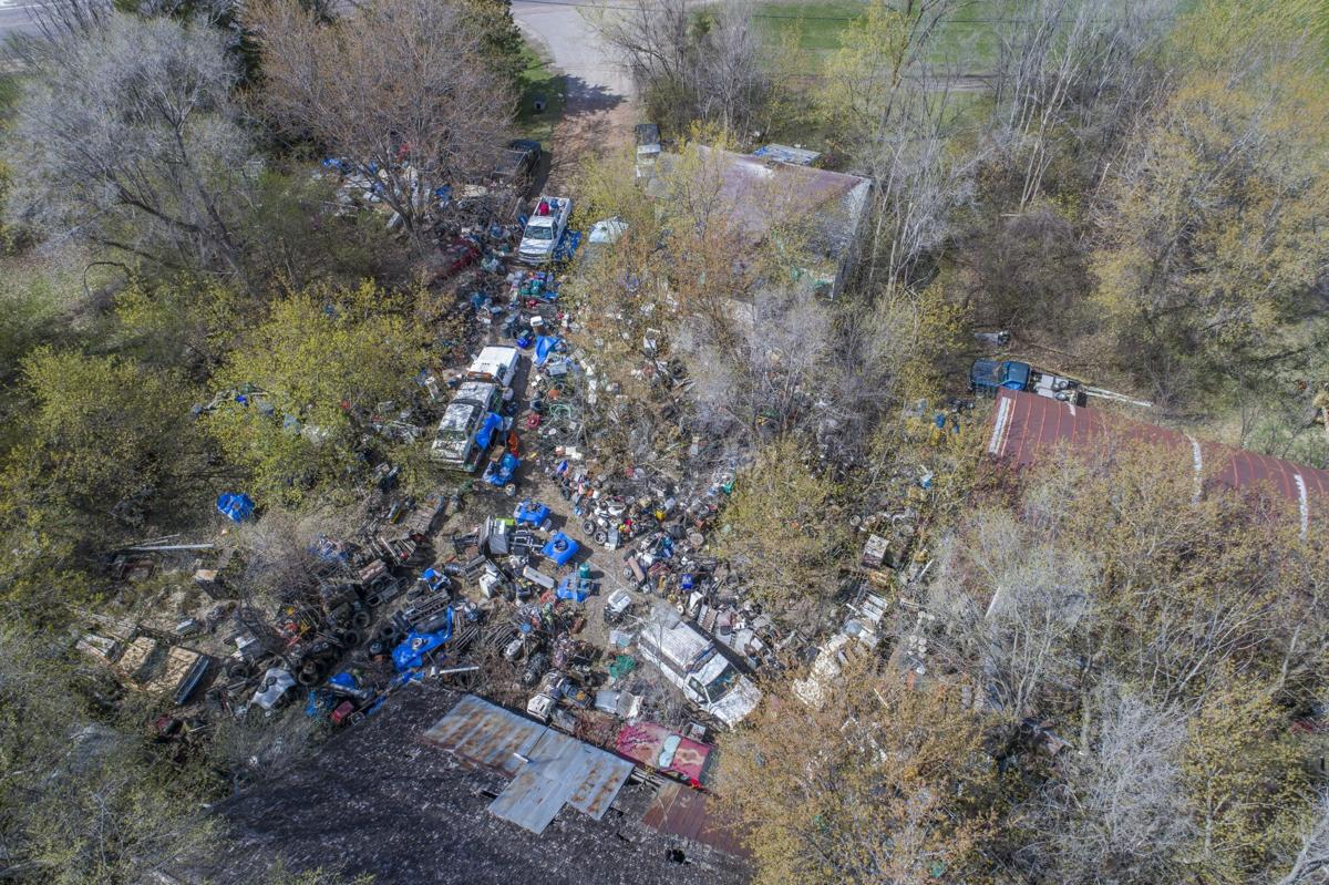 Drone image of the Schmitz property