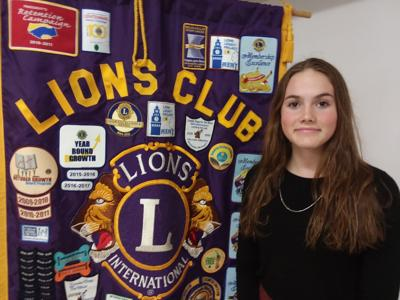 Shakopee Lions Club Student of the Month Zella Lucas