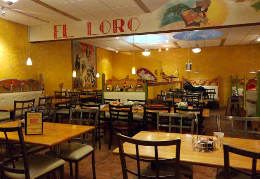 El Loro Mexican Restaurant Interior Seating