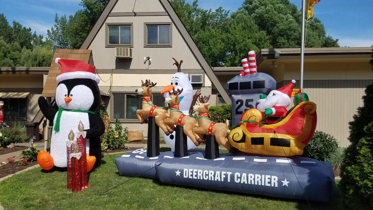 Christmas inflatables welcome campers