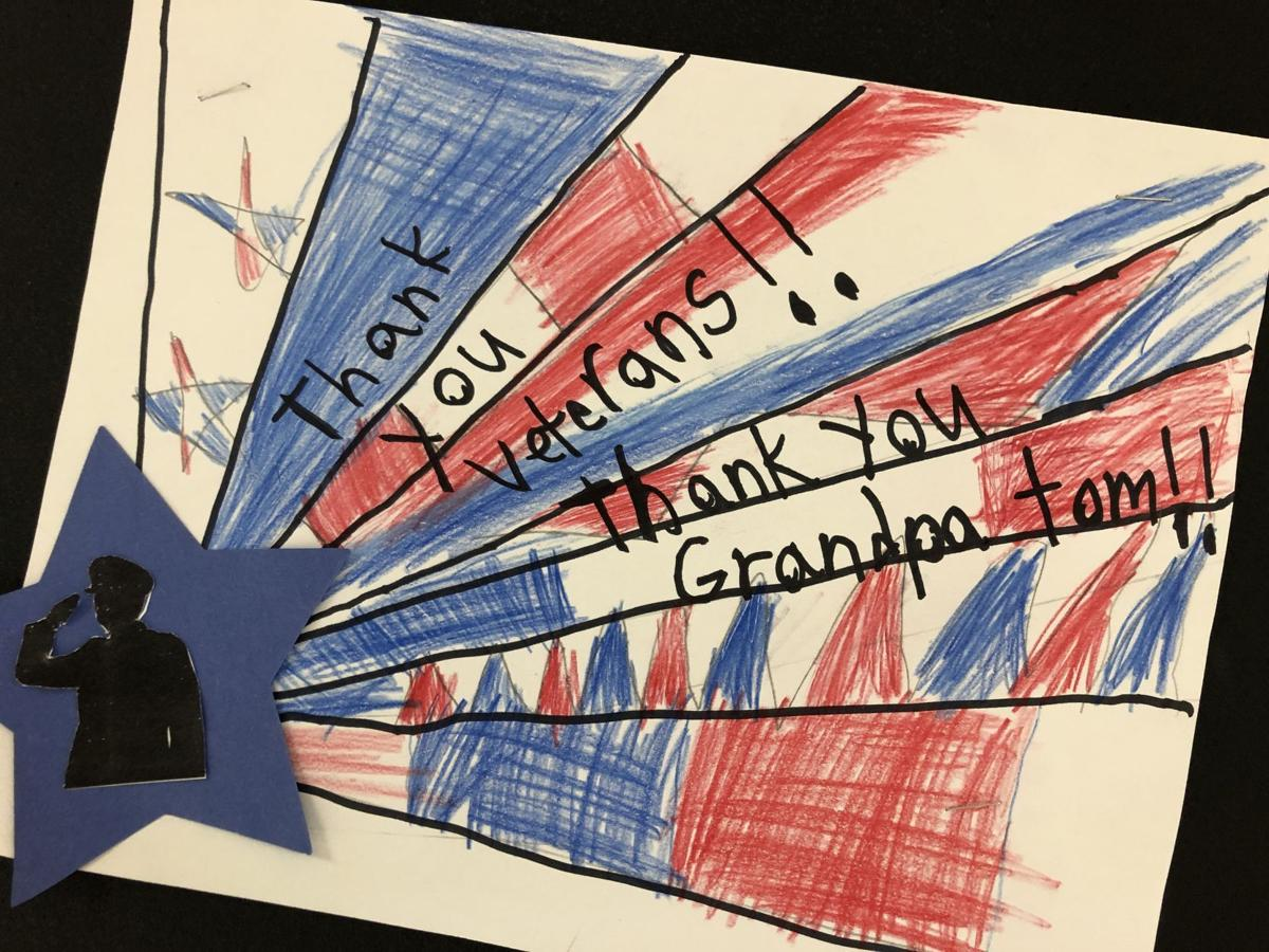 "JES ""Thank You Veterans/Grandpa Tom!"" Card"