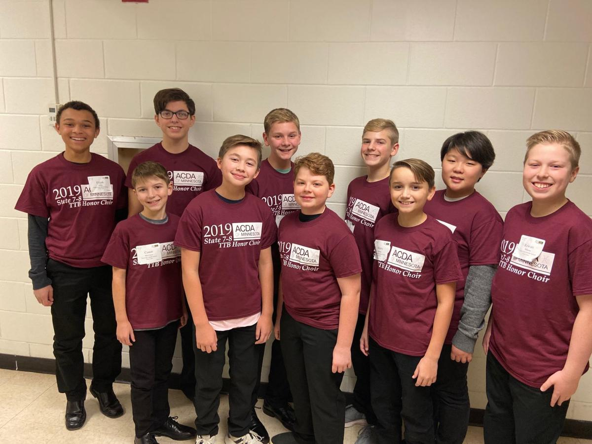Middle school boys' honor choir