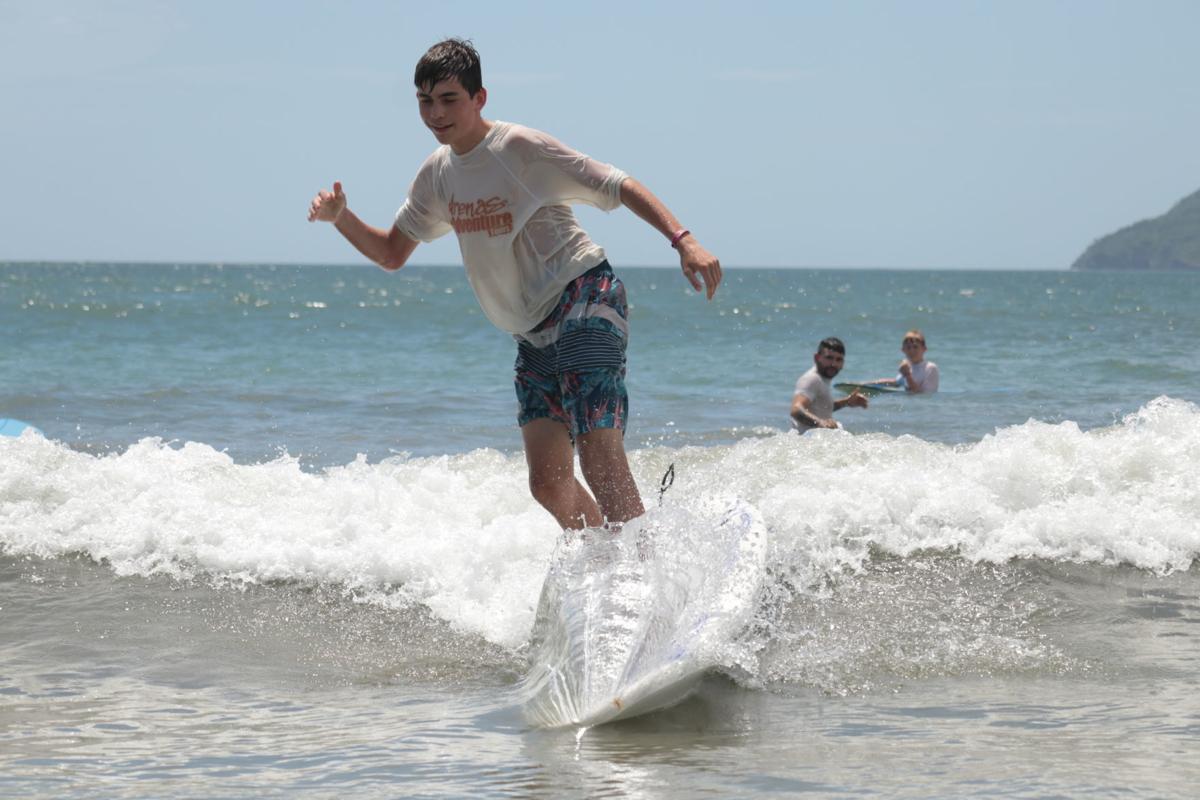 Joe Hernandez surfs in Costa Rica
