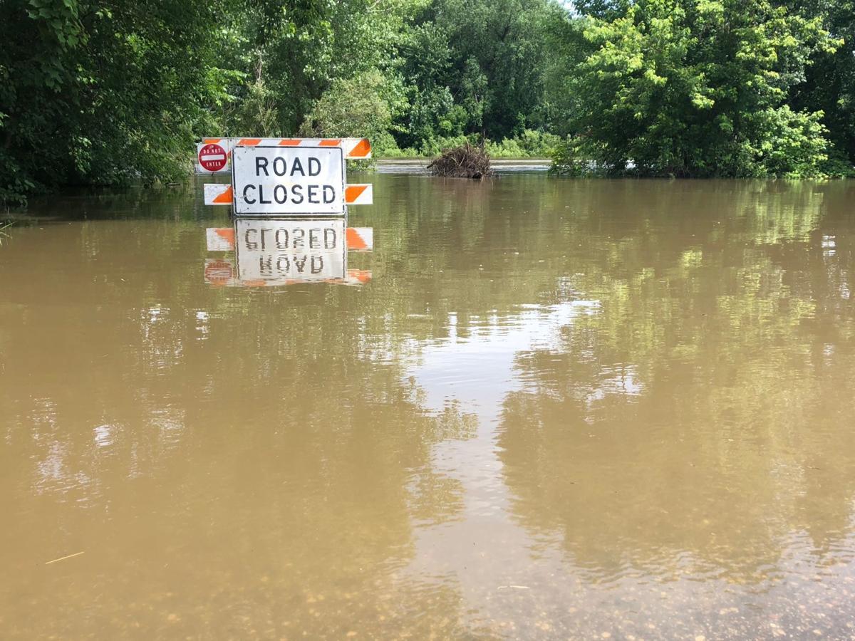 Boat landing flooded