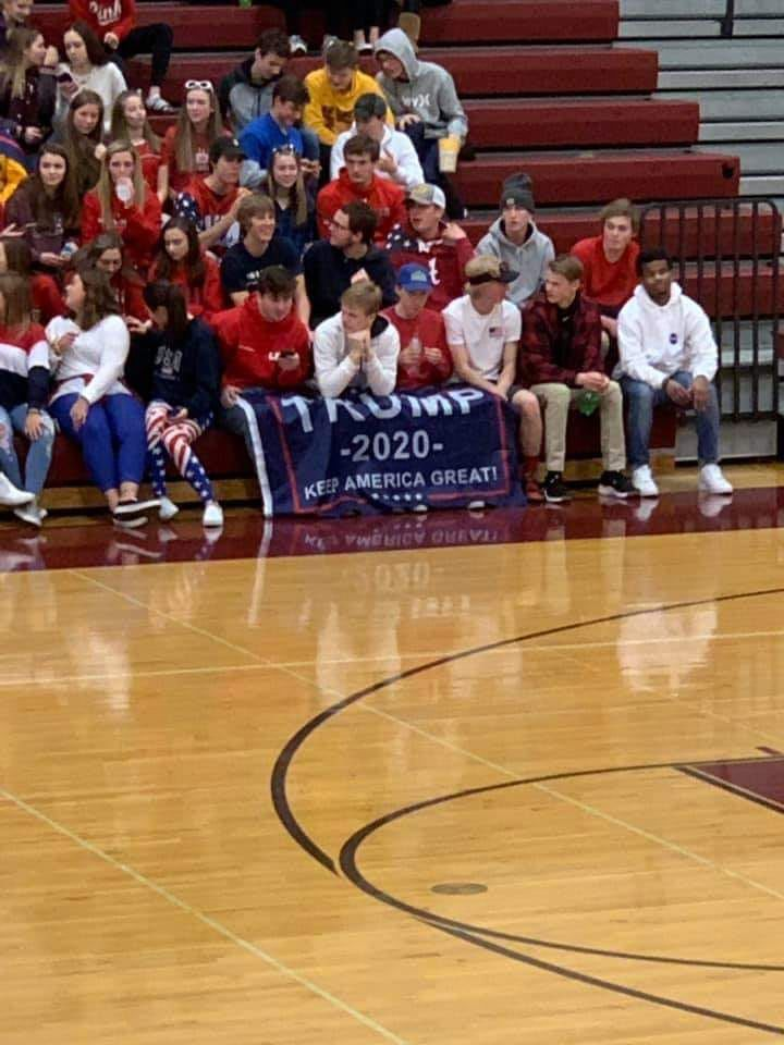 JHS student section pro Trump sign