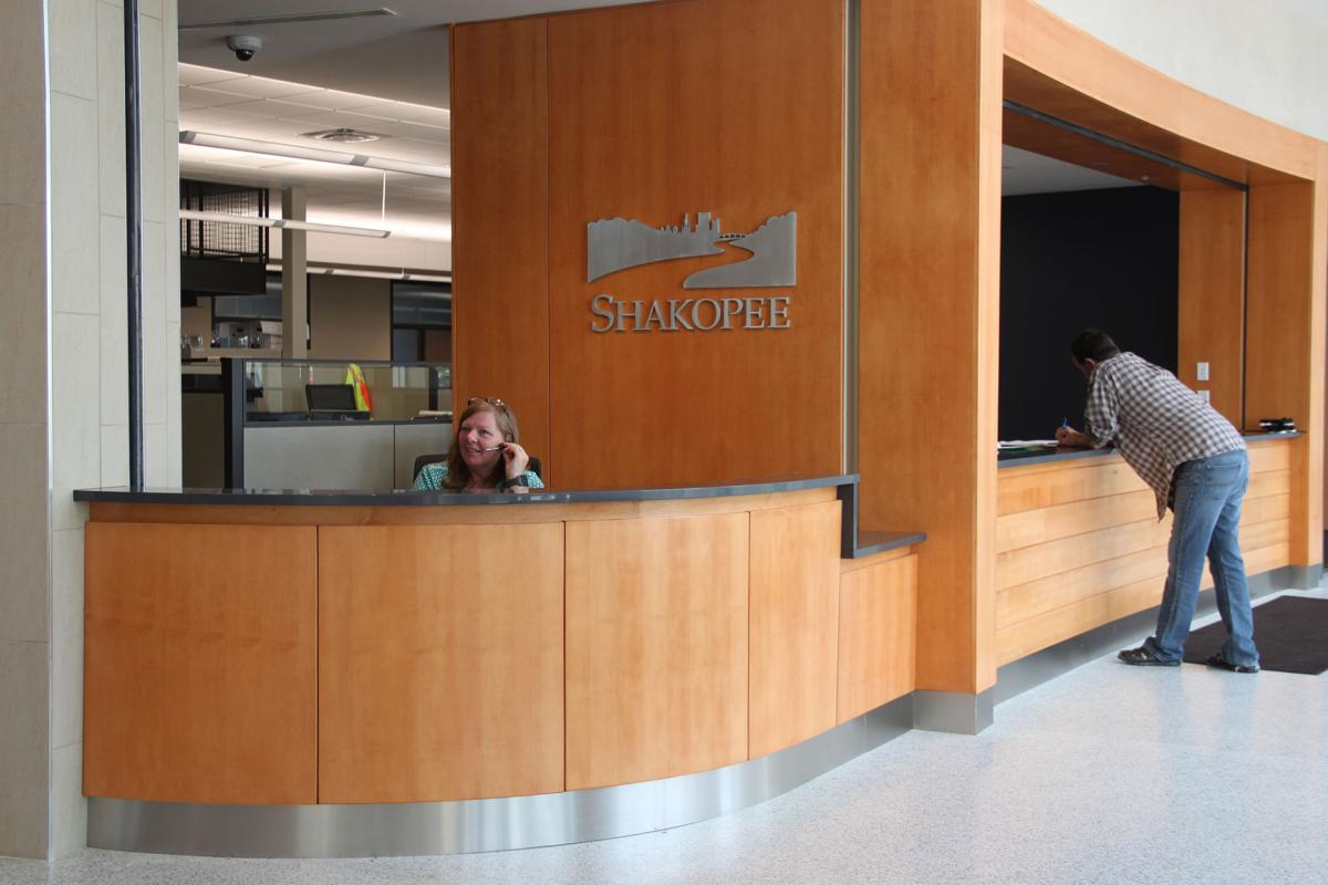 Shakopee City Hall reception desk (new)